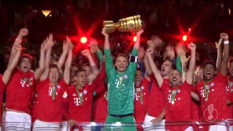 جشن قهرمانی بایرن مونیخ در جام حذفی 2019