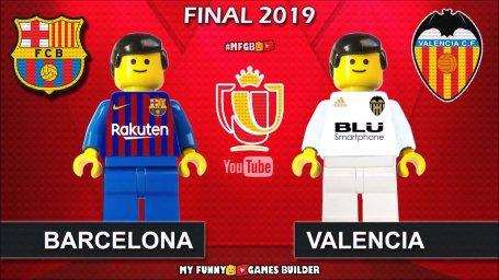 شبیه سازی لگو فینال کوپا دل ری بین تیمهای بارسلونا - والنسیا