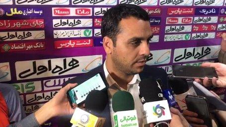 صحبت های فتاحی درباره تقسیم بندی هواداران بازی سپاهان - پرسپولیس