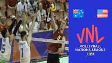 خلاصه والیبال استرالیا 1 - آمریکا 3 (لیگ ملتهای والیبال)