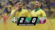 خلاصه بازی برزیل 2 - قطر 0 ( دوستانه ملی )