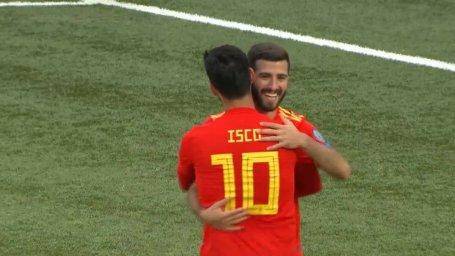 گل چهارم اسپانیا به جزایر فارو (گایا)