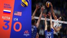 خلاصه والیبال روسیه 3 - آمریکا 0 (لیگ ملت های والیبال)