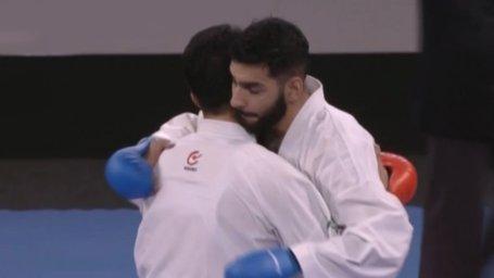 رقابت گنجزاده و اباذری در فینال تمام ایرانی لیگ جهانی کاراته