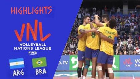 خلاصه والیبال آرژانتین 2 - برزیل 3 (لیگ جهانی)