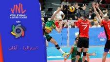 خلاصه والیبال استرالیا 3 - آلمان 0 (لیگ ملت های والیبال)