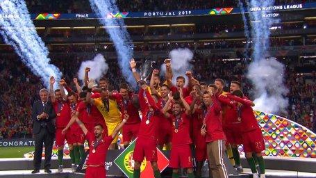 مراسم کامل اهدای جوایز فینال لیگ ملتهای اروپا 2019