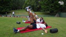 تمرین های کششی تیم ملی فرانسه