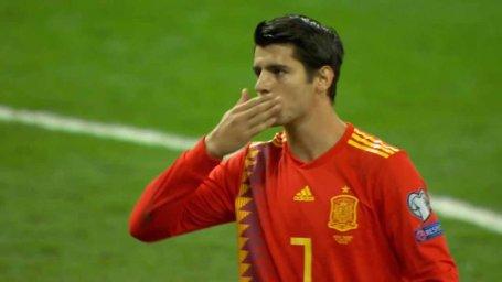 گل دوم اسپانیا به سوئد (موراتا-پنالتی)