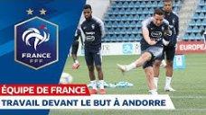 آخرین تمرین بازیکنان فرانسه پیش از بازی برابر بلاروس