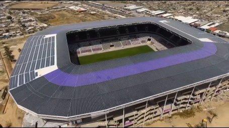 نمایی از استادیوم شیک و تازه ساخته شده در عراق