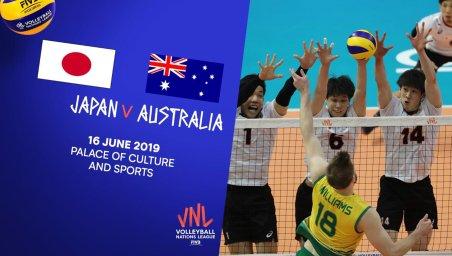 خلاصه والیبال ژاپن 3 - استرالیا 2 (لیگ ملت های والیبال)
