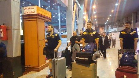 ورود تیم والیبال استرالیا به شهر اردبیل