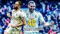 تمام 40 گل کریم بنزما در فصل 19-2018