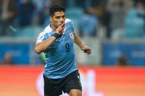 گل اول اروگوئه به ژاپن (سوارز - پنالتی)