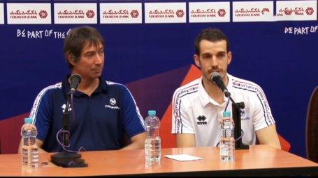 نشست خبری مربیان فرانسه - استرالیا پس از بازی