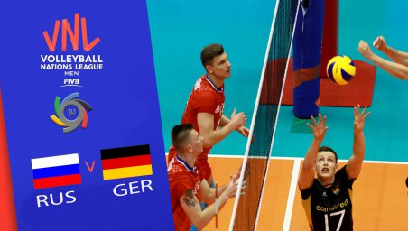خلاصه والیبال آلمان 1 - روسیه 3 (لیگ ملتهای والیبال)
