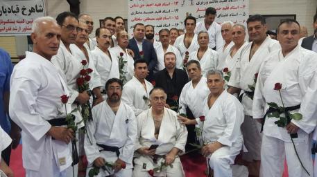 گردهمایی صمیمی مو سفید های کاراته