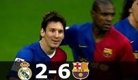 بازی خاطره انگیز بارسلونا - رئال مادرید در فصل 9-2008