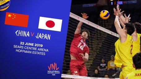 خلاصه والیبال ژاپن 3 - چین 0 (لیگ ملتهای والیبال)