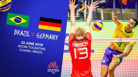 خلاصه والیبال برزیل 3 - آلمان 2 (لیگملتهایوالیبال)