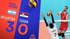 خلاصه والیبال آرژانتین 3 - صربستان 0 (لیگ ملت های والیبال)