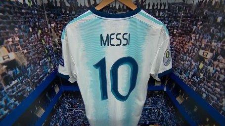رختکن و ورود بازیکنان دو تیم قطر و آرژانتین به استادیوم