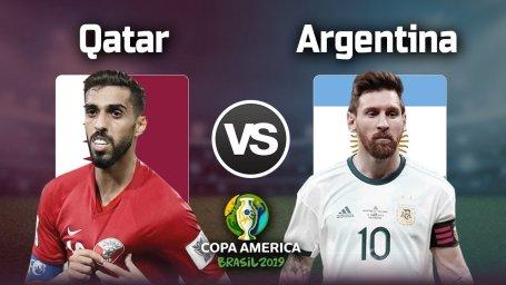 خلاصه بازی قطر 0 - آرژانتین 2 (کوپا آمریکا)