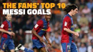 10 گل برتر لیونل مسی برای بارسلونا از نگاه طرفداران