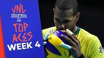 برترین سرویس های هفته چهارم لیگ ملت های والیبال
