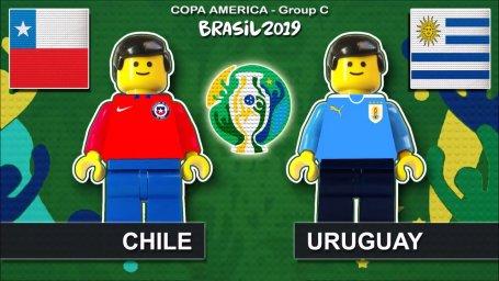 شبیه سازی بازی اروگوئه - شیلی با لگو