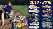 10 کفش برتر لیونل مسی از 2010 تا 2019