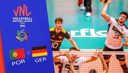 خلاصه والیبال آلمان 3 - پرتغال 1 (لیگ ملتهای والیبال)