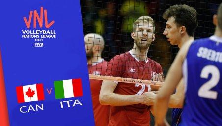 خلاصه والیبال ایتالیا 1 - کانادا 3 (لیگ ملت های والیبال)