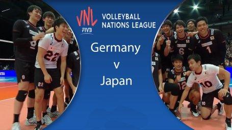 خلاصه والیبال آلمان 2 - ژاپن 3 (لیگ ملتهای والیبال)