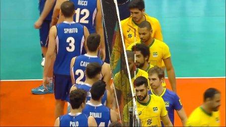 خلاصه والیبال برزیل 3 - ایتالیا 1 (لیگ ملتهای والیبال)