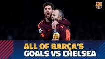 تمام گلهای بارسلونا به چلسی در تاریخ فوتبال