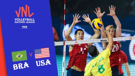 خلاصه والیبال آمریکا 3 - برزیل 2 (لیگملتهای والیبال)