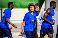 اولین حضور گریزمان در تمرینات بارسلونا
