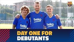 تمرین امروز تیم بارسلونا با حضور گریزمان(24-04-98)