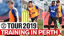تمرین بازیکنان منچستر در تور پیش فصل 2019