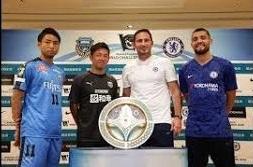 ورود بازیکنان چلسی به هتل محل اقامت در ژاپن