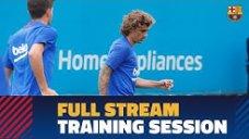 تمرینات آماده سازی بازیکنان بارسلونا (26-04-98)