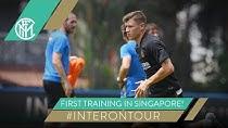 اولین تمرین اینتر در کشور سنگاپور