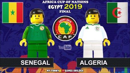 شبیه سازی دیدار الجزایر -سنگال با لگو