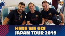 حواشی سفر تیم بارسلونا به توکیو