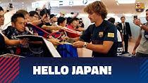 استقبال گرم ژاپنی ها از تیم بارسلونا