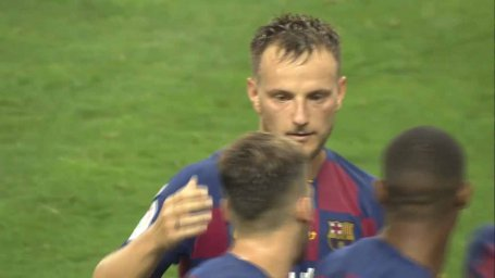 گل اول بارسلونا به چلسی(راکیتیچ)