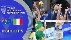 خلاصه والیبال استرالیا 2 - ایتالیا 3 (انتخابی المپیک)