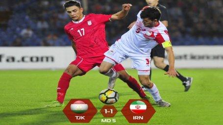 خلاصهبازی ایران 1 - تاجیکستان 1 (زیر 19 سال آسیای مرکزی)